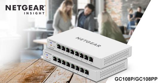 NETGEAR GC108P/GC108PP 雲端交換器
