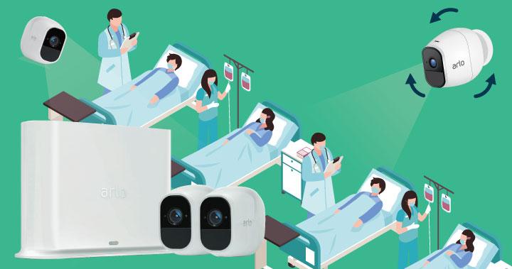 隔離病房或臨時的隔離區,需要安裝監控攝影機, 但環境限制沒辦法鑽孔拉線?