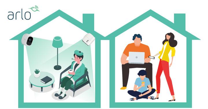 防疫時期避免感染居家隔離, 臨時需要快速安裝監控攝影機 而不破壞裝潢?