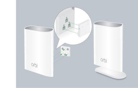 Orbi 戶外衛星 RBS50Y,IP66 防水、防塵,電源防水接頭 散熱背板戶外不怕高溫 可以壁掛/直立式擺放