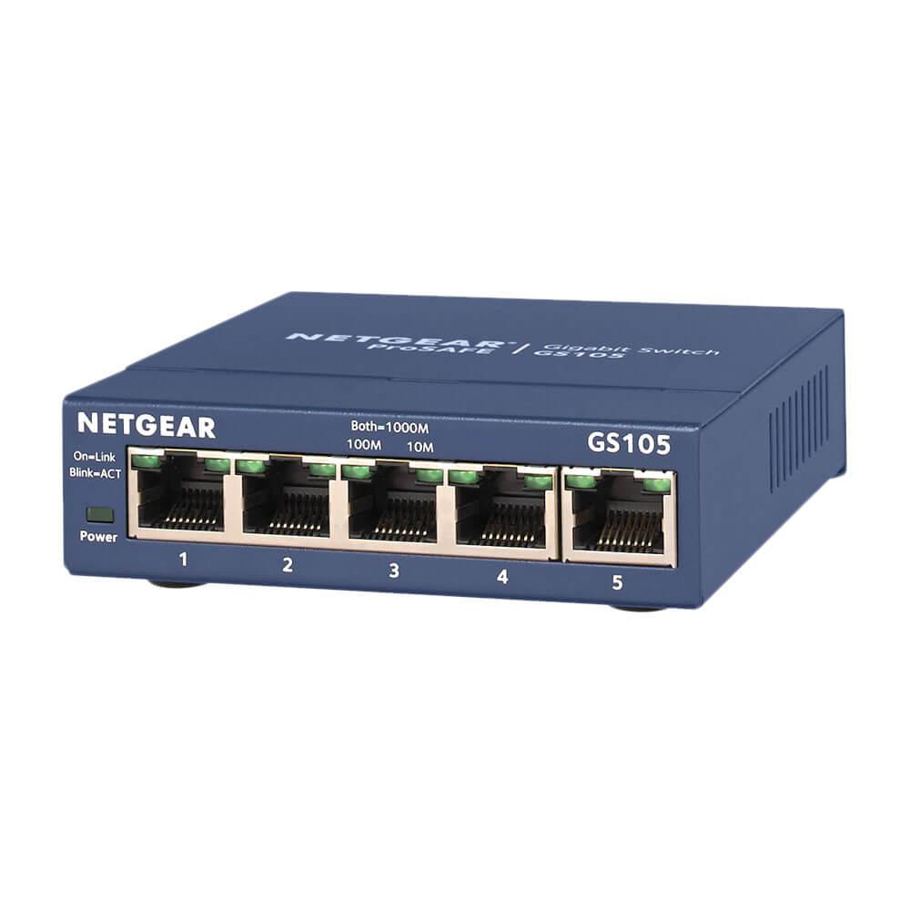 NETGEAR-GS105-無網管交換器