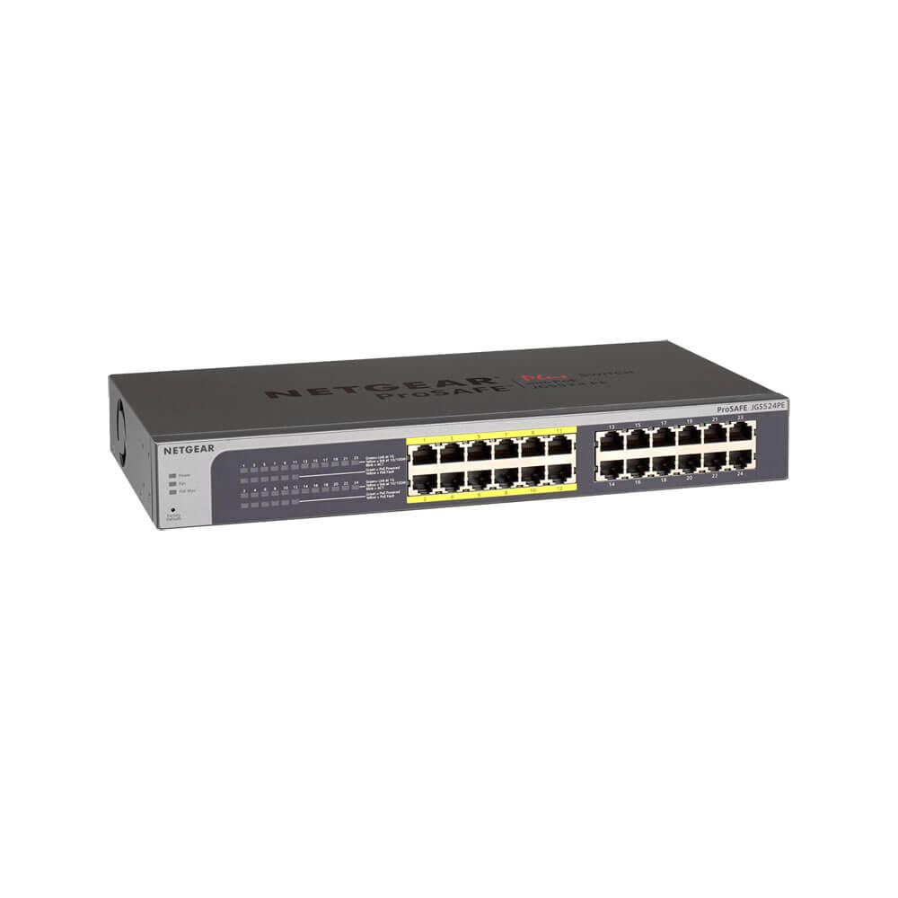 NETGEAR-JGS524PE-簡易網管交換器