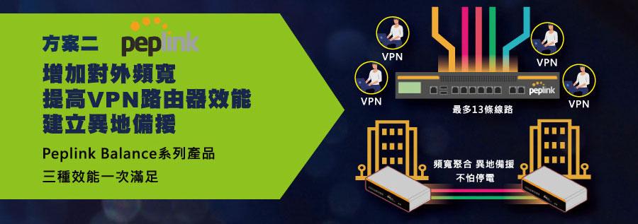 增加對外寬增高VPN路由器效能,建立異地備援