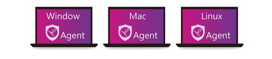 支援 macOS、Linux、Windows 作業系統全面保護
